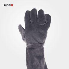 دستکش جوشکاری آرگون بلند مشکی