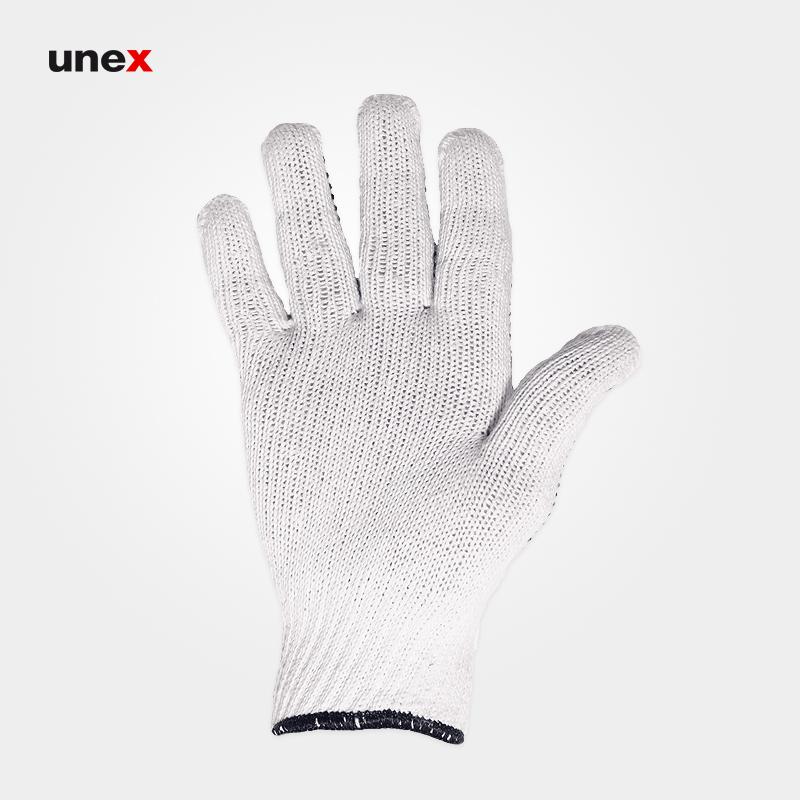 دستکش بافتنی خالدار یکرو, دستکش ایمنی بافتنی خالدار, دستکش مونتاژ کاری