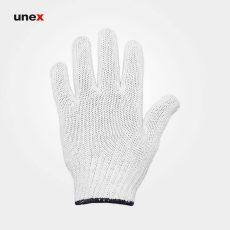 دستکش بافتنی یونکس سنگین گرماژ ۵۰ سفید
