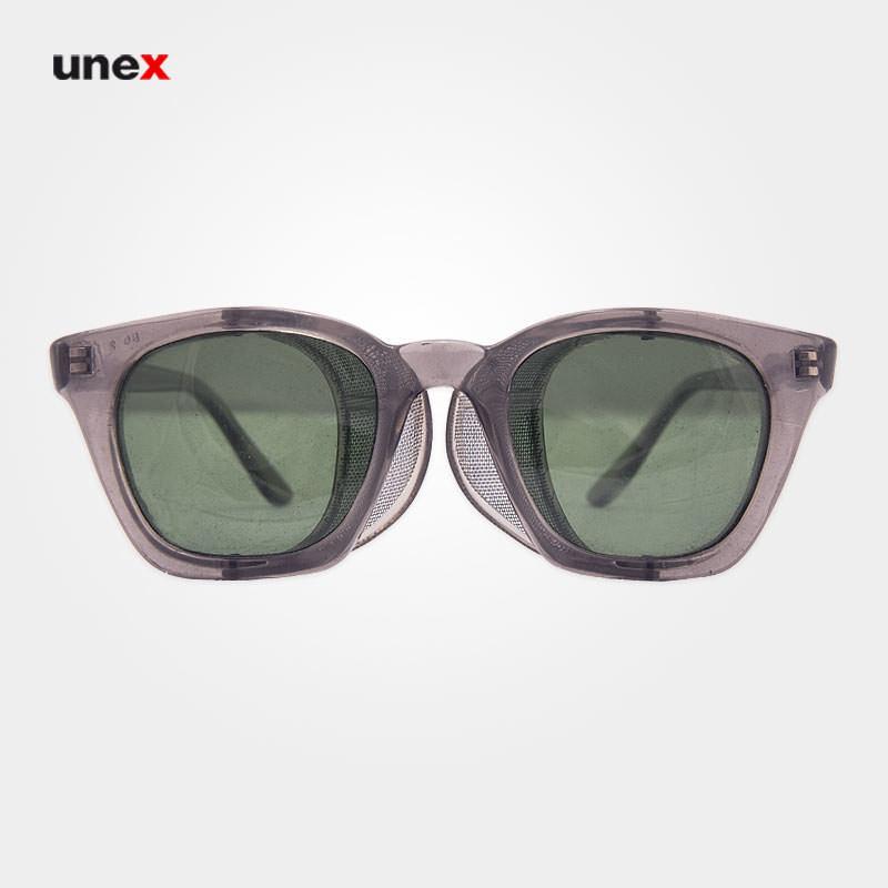 عینک طلقی بغل توری دودی p140