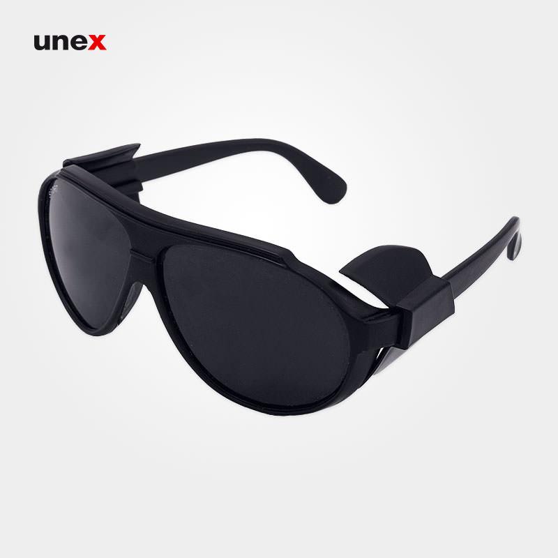 عینک اسپورت حفاظ دار دودی
