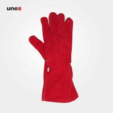 دستکش جوشکاری هبارت تمام مغزی BMW قرمز