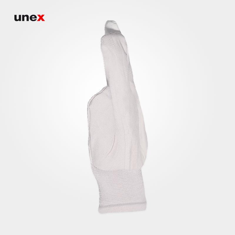 دستکش کتان, دستکش ایمنی مچ کش دار مناسب کار ساختمانی و خدمات شهری