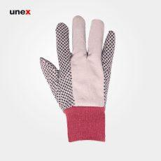 دستکش کتان خالدار سفید