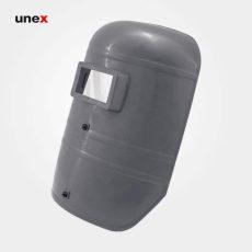 ماسک جوشکاری تک پلاست دستی ساده طوسی