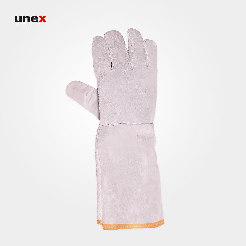 دستکش تمام چرم بلند, دستکش ایمنی مناسب کار در برابر آتش و ریخته گری و جوشکاری