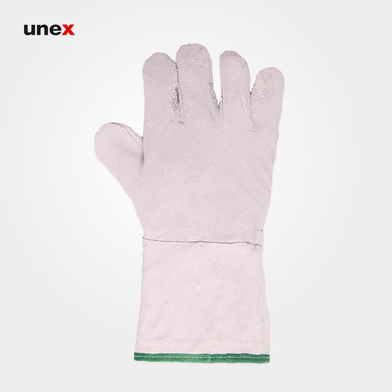 دستکش تمام چرم کوتاه, دستکش ایمنی تمام چرم گاوی, دستکش مناسب ریخته گری