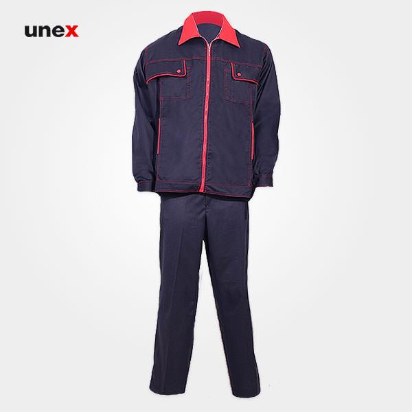 لباس کار کاپشن و شلوار یونکس – UNEX، لباس کار صنعتی، سرمه ای، ایرانی