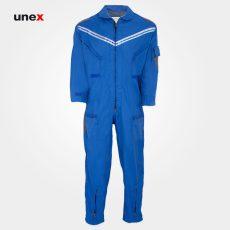 لباس کار یونکس یکسره آبی طوسی