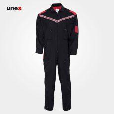 لباس کار یونکس یکسره مشکی قرمز