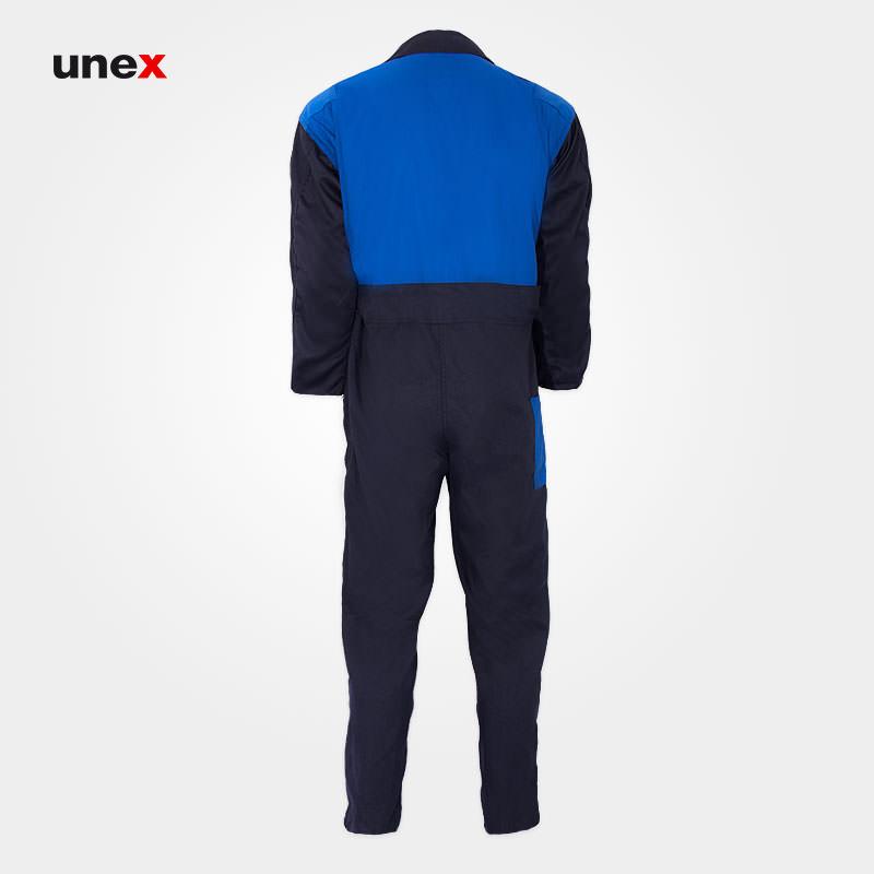لباس کار یکسره طرح کانادایی، ابزار ایمنی شهپر، لباس کار صنعتی، سرمه ای – آبی، ایرانی