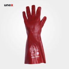 دستکش ضد اسید پوشا بلند قرمز