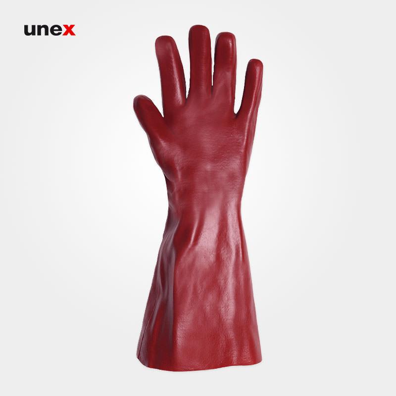 دستکش ضد اسید بلند پوشا, دستکش ضد مواد شیمایی ۴۰ سانتی آستر دار PUSHA