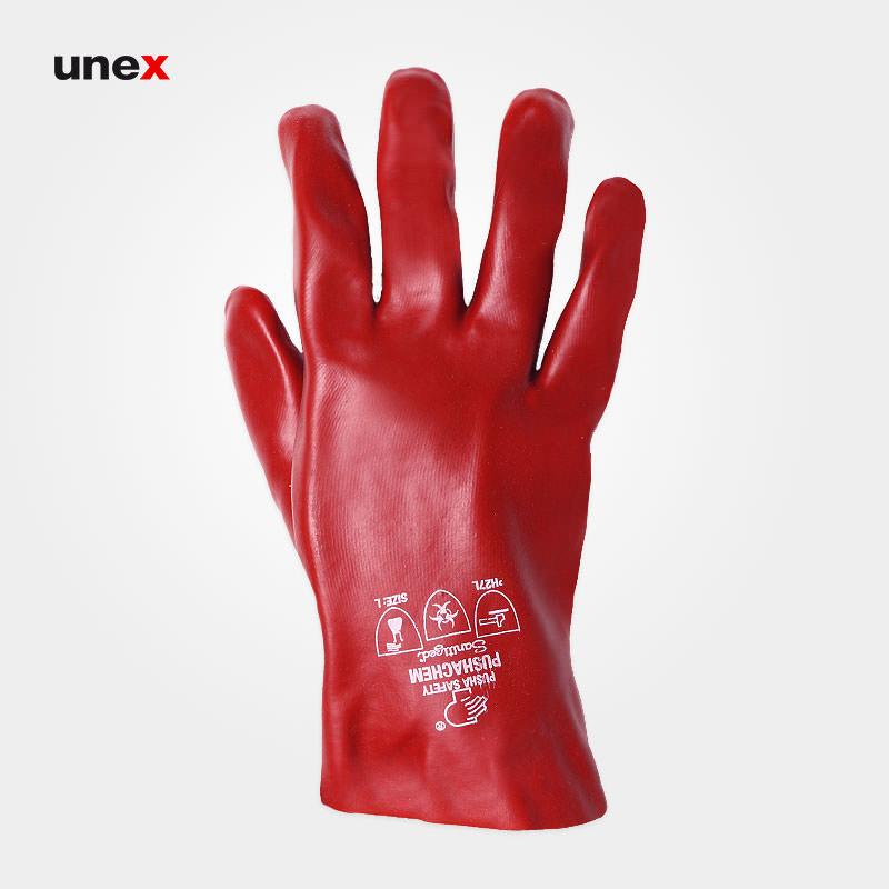 دستکش ضد اسید کوتاه پوشا, دستکش ایمنی آستر پارچه ای پنبه ای کرک دار