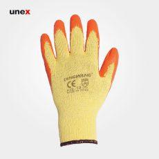 دستکش ضد برش طرح بوفالو, دستکش ایمنی آستر پارچه ای تمام پنبه با مچ کش بافت