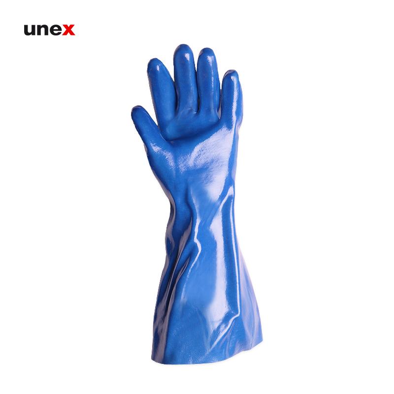 دستکش ضد حلال بلند پوشا, دستکش ایمنی ساق بلند مناسب کار با بنزین و گازوییل و فرآورده های نفتی