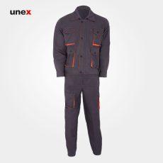 لباس کار کاپشن شلوار پاور-Power،لباس کار صنعتی، سرمه ای و طوسی، چینی