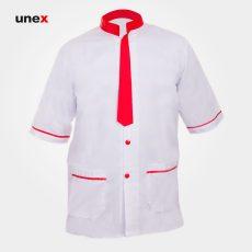 لباس یونکس رستورانی کراواتی سفید