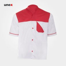 لباس یونکس رستورانی کیان سفید قرمز