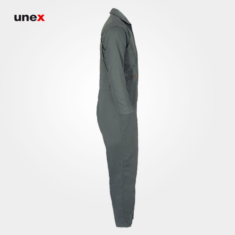 لباس کار یکسره طرح کانادایی، ابزار ایمنی شهپر، لباس کار صنعتی، سبز، ایرانی