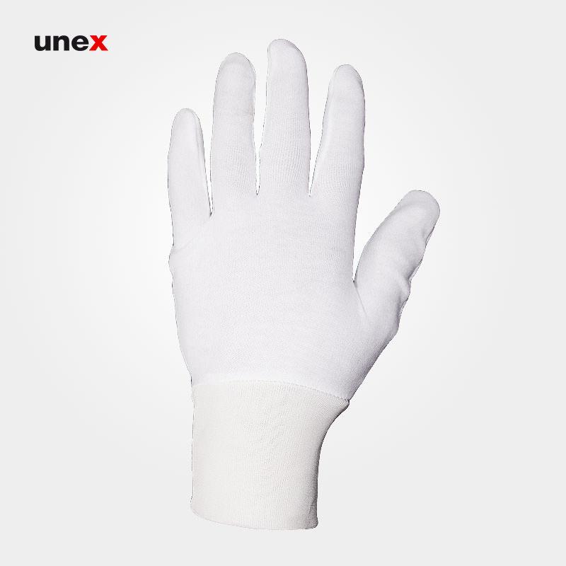 دستکش ضد حساسیت سفید, دستکش سفید پارچه ای ساده پنبه ای