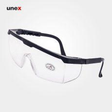 عینک ایمنی دسته ریگلاژی سفید