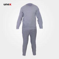 لباس یونکس گرمکن میلنگی طوسی