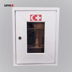 جعبه کمک های اولیه یونکس دیواری شیشه دار بزرگ