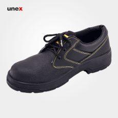 کفش ایمنی کار ایمن , کفش ایمنی پنجه فولادی مشکی