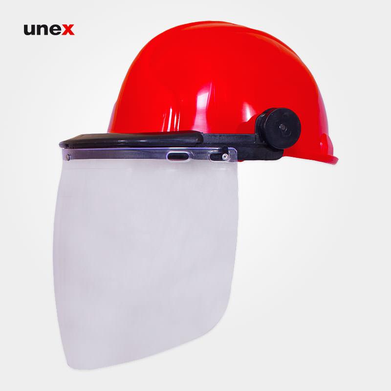 کلاه ایمنی با شیلد سفید طرح jsp