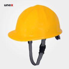 کلاه ایمنی با بند ابریشمی زرد