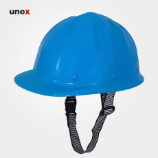 کلاه ایمنی با بند ابریشمی آبی