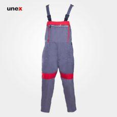 لباس کار یونکس دوبنده سیلوری, طوسی قرمز