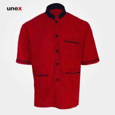 لباس یونکس رستورانی آستین کوتاه قرمز