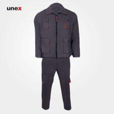 لباس کار یونکس مهندسی پاور خاکستری