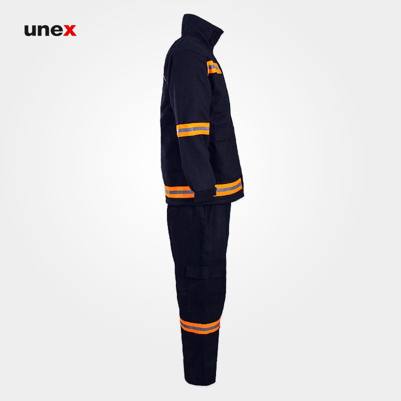 لباس کار عملیاتی آتش نشانی, ابزار ایمنی شهپر، لباس عملیاتی مبارزه با حریق، مشکی، ایرانی