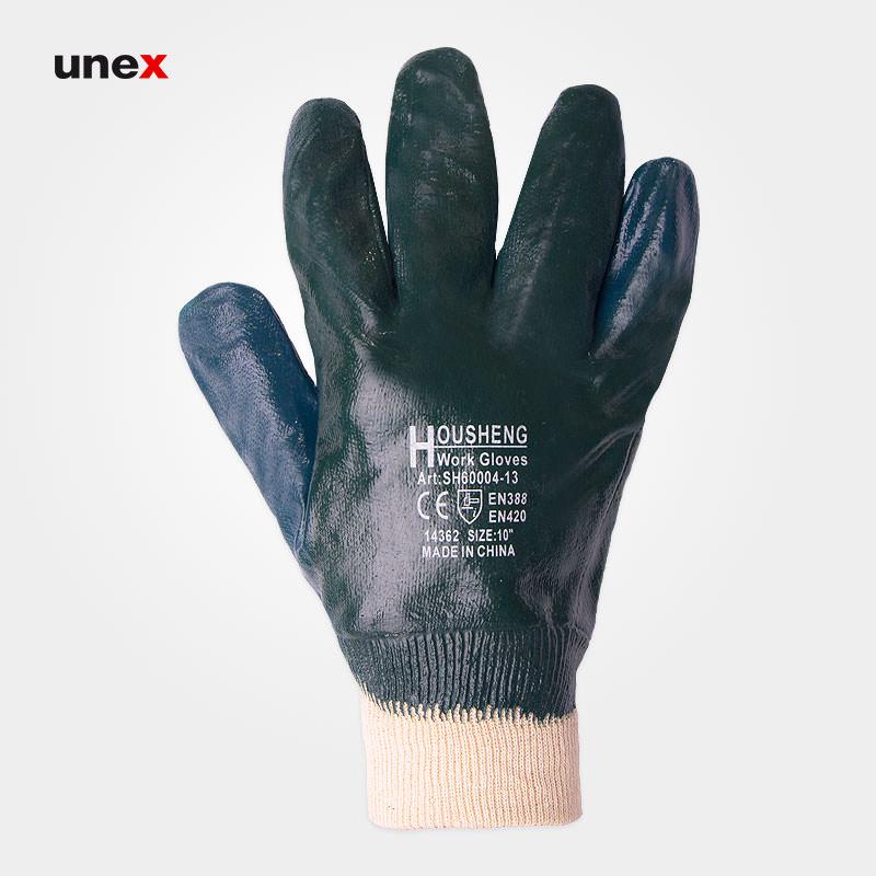 دستکش مواد نفتی مچ کش بافت, دستکش کار خارجی, ابزار ایمنی شهپر