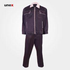 لباس کار یونکس قهوه ای