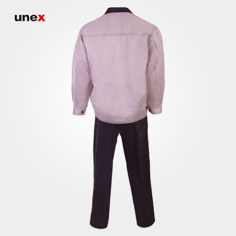 لباس کار یونکس Unex کرم, لباسکار صنعتی سایز بزرگ