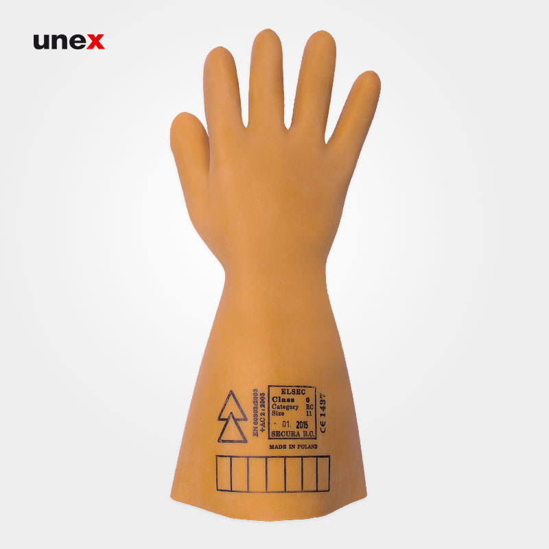 دستکش عایق برق کلاس صفر – ۰، ۵۰۰۰ ولت، السک – ELSEC ، دستکش عایق برق ، رنگ کرم