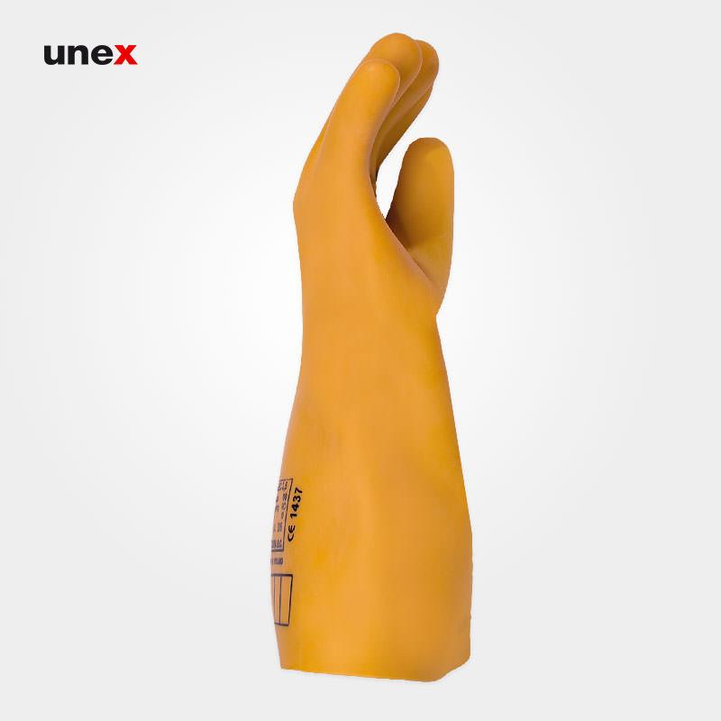 دستکش عایق برق کلاس صفر صفر - ۰۰، ۲۵۰۰ ولت ، السک - ELSEC ، دستکش عایق برق ، رنگ کرم
