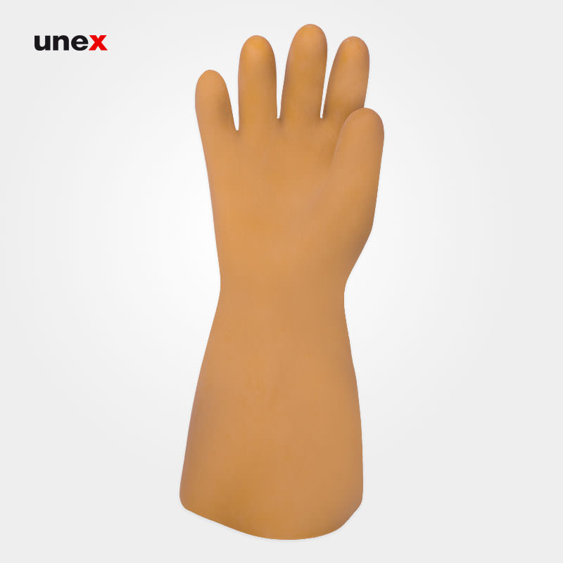 دستکش عایق برق کلاس سه - ۳، ۳۰۰۰۰ ولت، السک - ELSEC ، دستکش عایق برق ، رنگ کرم