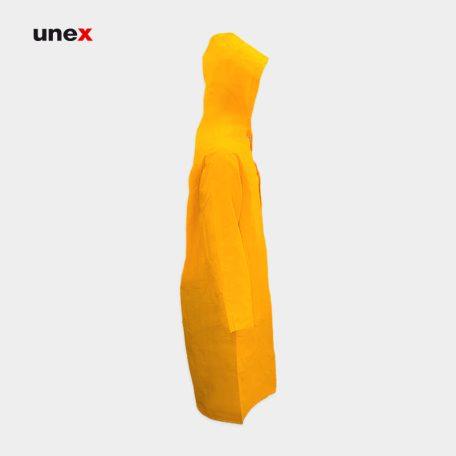 بارانی ضد اسید، پی وی سی - PVC، ابزار ایمنی شهپر، لباس کار شیمیایی، رنگ زرد، ایرانی