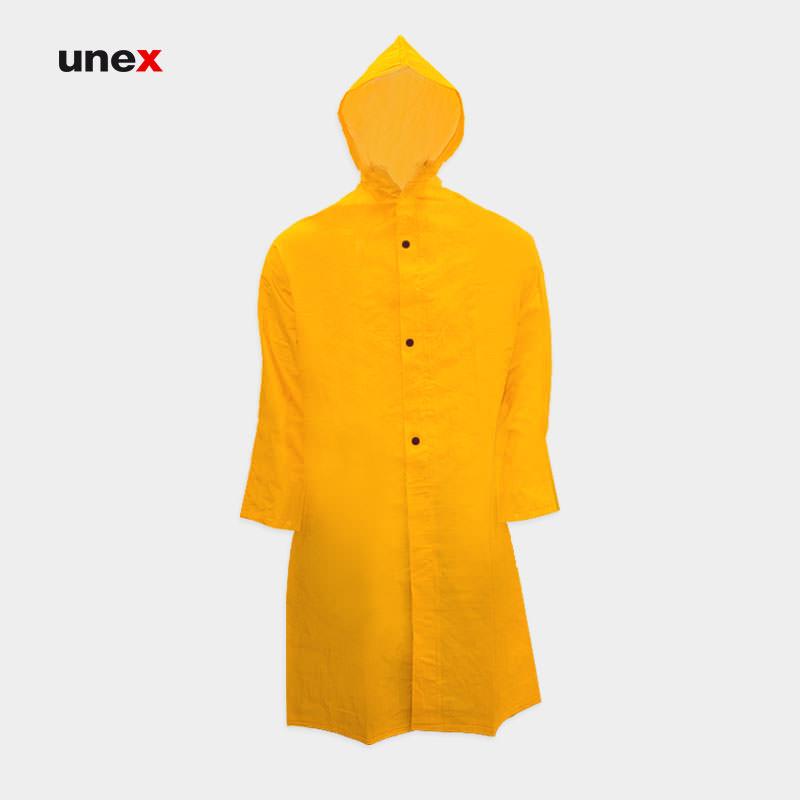 بارانی ضد اسید، پی وی سی – PVC، ابزار ایمنی شهپر، لباس کار شیمیایی، رنگ زرد، ایرانی