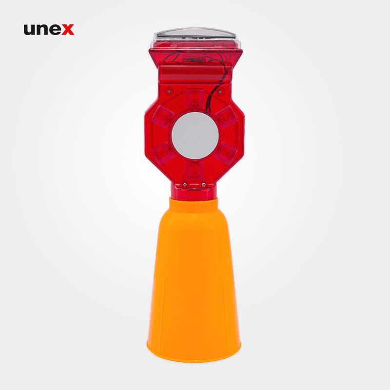 چراغ آذرخش مخروطی پی وی سی – PVC ، سولار ، چراغ آذرخش ، رنگ زرد