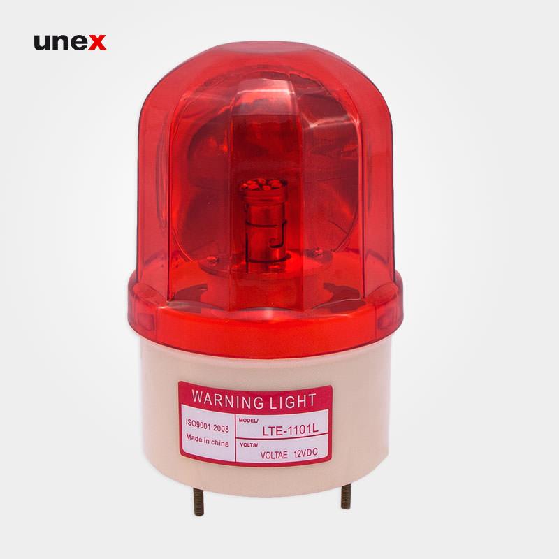 چراغ گردان ۱۲ ولت ، پی وی سی PVC ، چراغ گردان ، رنگ قرمز ، ساخت چین