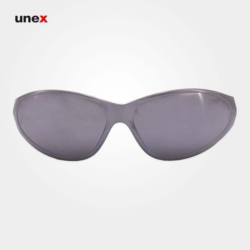 عینک ایمنی آنتی رفلکس – ANTI REFLEX ، ای تی صد و پانزده – AT 115 ، توتاص – TOTAS ، عینک فریم دار ، رنگ نقره ایی