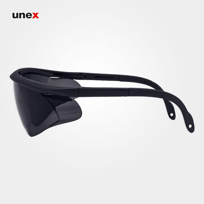عینک ایمنی ای تی صد و هفده – AT 117 ، توتاص – TOTAS ، عینک فریم دار ، رنگ سفید ، دودی