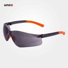 عینک ایمنی ای تی صد و هجده – AT 118 ، توتاص – TOTAS ، عینک فریم دار ، رنگ سفید و دودی
