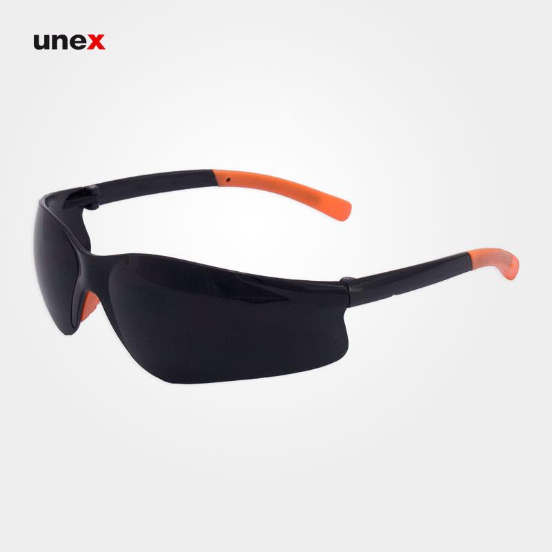 عینک ایمنی ای تی صد و هجده – AT 118 ، توتاص – TOTAS ، عینک جوشکاری ، جوشکاری نور ۹ ، رنگ دودی